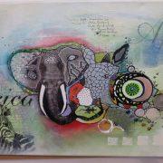 Mixed Media Elefant