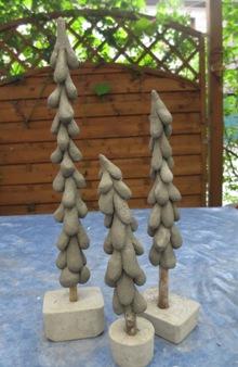 Diy windschiefe tanne aus knetbeton hobbymade bastelbedarf - Weihnachtsbeleuchtung auayen figuren selber bauen ...