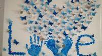 DIY – Leinwand toll gestalten mit Fingerfarben und Schmetterlingen