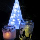 Leuchtobjekt Sterneffektfolie