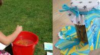 DIY – Schöne Papieranhänger mit Marmorier Farben