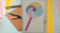 DIY – Lollipop Geburtstagskarte