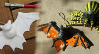 DIY – Decopatch Spinne und Fledermaus