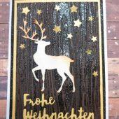 weihnachtskarte-hirsch-weiß