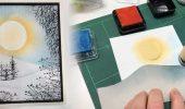 DIY – weihnachtliche Stempelkarte