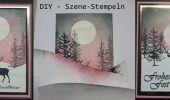 DIY – Szene-Stempeln Hirschkarte