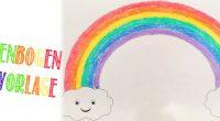 DIY – Regenbogen-Malvorlage